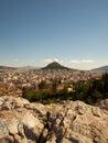 Athens greece view from acropolis Stock Photos