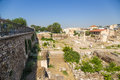 Athens roman agora in the st century bc when had already become part of the empire the the old marketplace of had become Stock Images