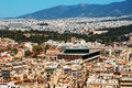 Athens skyline Stock Photos
