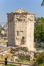 Athens the tower of the winds also called horologion timepiece is an octagonal pentelic marble clocktower on roman agora in Stock Photo