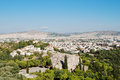 Athens view of roofs and areipagus hill from acropolis greece Stock Photography