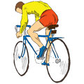 Athlete bicyclist Royalty Free Stock Photo