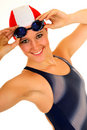 Athlete, female swimmer Stock Photography