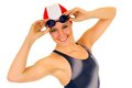 Athlete, female swimmer Stock Photo