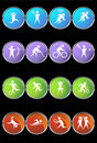 Athlete Icons Royalty Free Stock Images