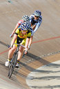 Athlete member of the canadian s team race bromont august unknown on national track championships on august in bromont on Royalty Free Stock Image