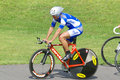Athlete member of the canadian s team race bromont august unknown on national track championships on august in bromont on Royalty Free Stock Photos