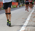 Athlete runner during the race Royalty Free Stock Photo
