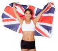 Athlete with the UK flag Royalty Free Stock Images