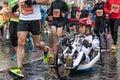 Athletes at the Rome Marathon. Royalty Free Stock Photo