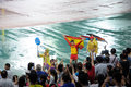 Athletes and spectators in the nanjing youth olympic games Royalty Free Stock Photography