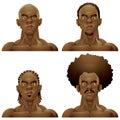 Athletic black man hairstyles head set
