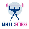 Athletic fitness vector logo temlate for creative design works Stock Photography