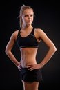 Athletic girl in sportswear Royalty Free Stock Photography