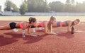 Athletic Group Of Women Traini...