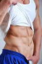 Athletic man with six-pack Royalty Free Stock Images