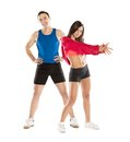 Athletic man and woman men women after fitness exercise Royalty Free Stock Photos