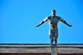 Athletic nude figure ready to jump Royalty Free Stock Photo