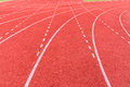 Athletic track for background Stock Photo
