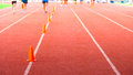 Athletic track for background Royalty Free Stock Photography