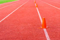 Athletic track for background Stock Photos