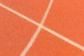 Athletic track details view of filed Royalty Free Stock Photo