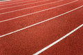 Athletic Track Lanes Angle Stock Photography
