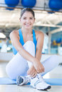 Athletic woman at the gym Stock Photography