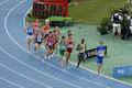 Athletics 1500 meters Royalty Free Stock Photo