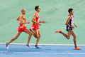 Athletics 1500 meters Royalty Free Stock Image
