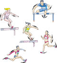 Athletics - run Stock Image