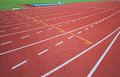Athletics runway with number track Royalty Free Stock Image