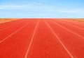 Athletics track blue sky sport Stock Photo