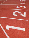 Athletics Track Lane Royalty Free Stock Photo