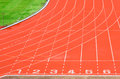 Athletics track Royalty Free Stock Photo
