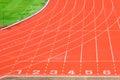 Athletics track Royalty Free Stock Photo