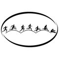 Athletics triple jump summer kinds of sports illustration on a sports theme Stock Image