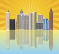 Atlanta Georgia City Skyline Illustration Royalty Free Stock Image