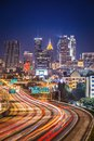 Atlanta georgia skyline traffic in usa Royalty Free Stock Images