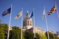 Atlanta Georgia State Capital Gold Dome City Architecture Flags Royalty Free Stock Photo