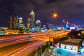 Atlanta georgia usa skyline of downtown Stock Images