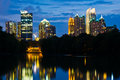 Atlanta midtown skyline Royalty Free Stock Image