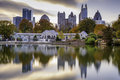Atlanta Park Skyline Royalty Free Stock Photo