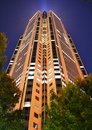 Atlanta skycraper the boa tower in at night Royalty Free Stock Images