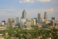 Atlanta Skyline Midtown, USA Royalty Free Stock Photo