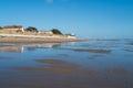 Atlantic beach in la tranche sur mer france Royalty Free Stock Photos