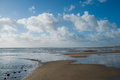 Atlantic beach in la tranche sur mer france Royalty Free Stock Image