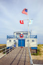 Atlantic City beach patrol building Royalty Free Stock Photo