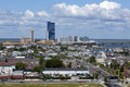 Atlantic city new jersey the marina district of from left to right golden nugget casino harrah s casino gardners basin marina Stock Photography