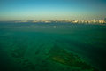 Atlantic ocean aerial view of the with miami city in the background miami dade county florida usa Stock Photography
